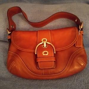 Coach soho flap shoulder bag. F10188.